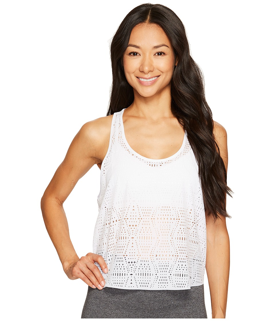 ALO - Hollow Tank Top (White) Women's Sleeveless
