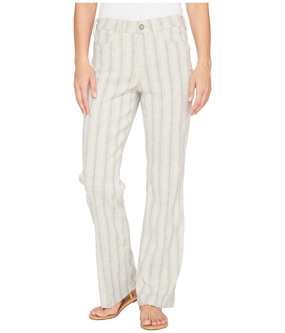 NYDJ - Wylie Trouser in Striped Linen (Cap D Antibes Indigo Natural) Women's Jeans