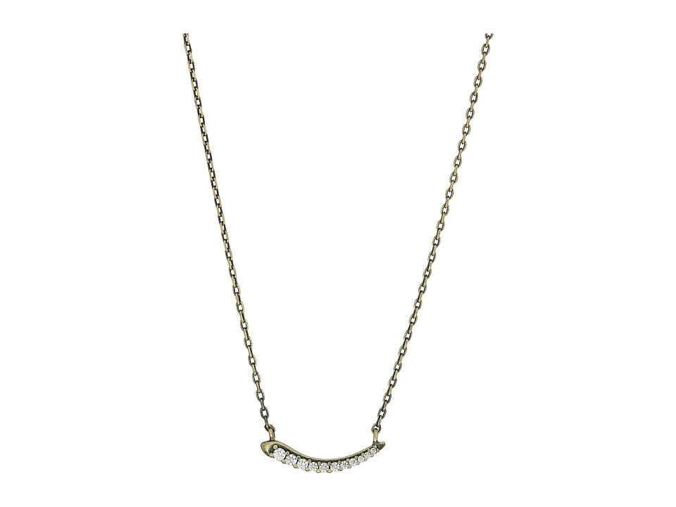 Kendra Scott - Whitlee Necklace (Antique Brass Metal/White CZ) Necklace