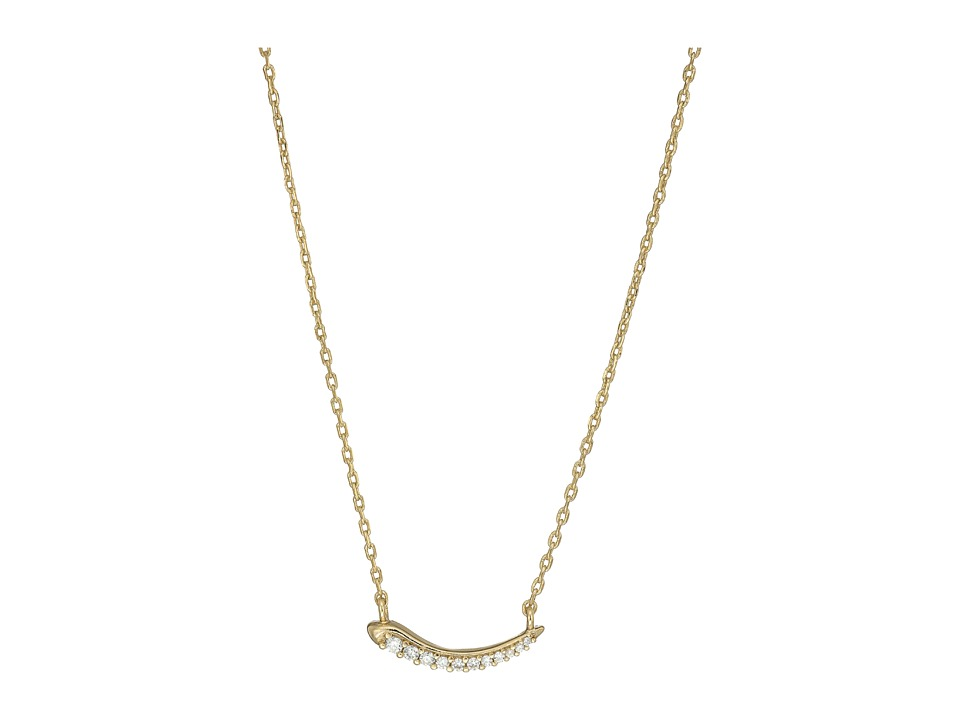 Kendra Scott - Whitlee Necklace (Gold Metal/White CZ) Necklace