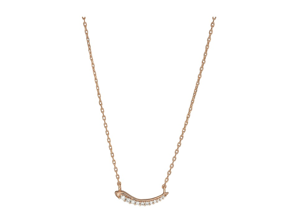 Kendra Scott - Whitlee Necklace (Rose Gold Metal/White CZ) Necklace