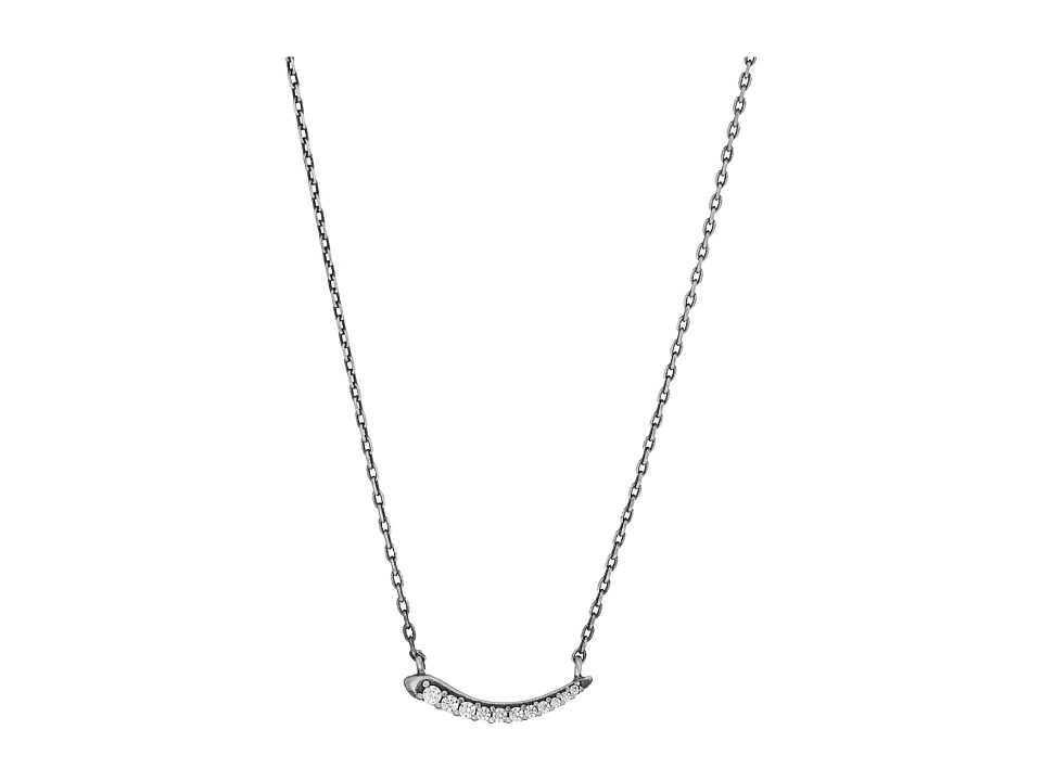 Kendra Scott - Whitlee Necklace (Antique Silver Metal/White CZ) Necklace