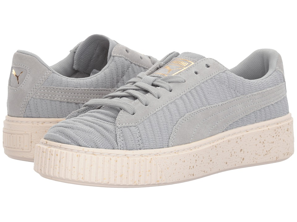 PUMA - Basket Platform OW (Quarry/Quarry/Whisper White) Women's Shoes