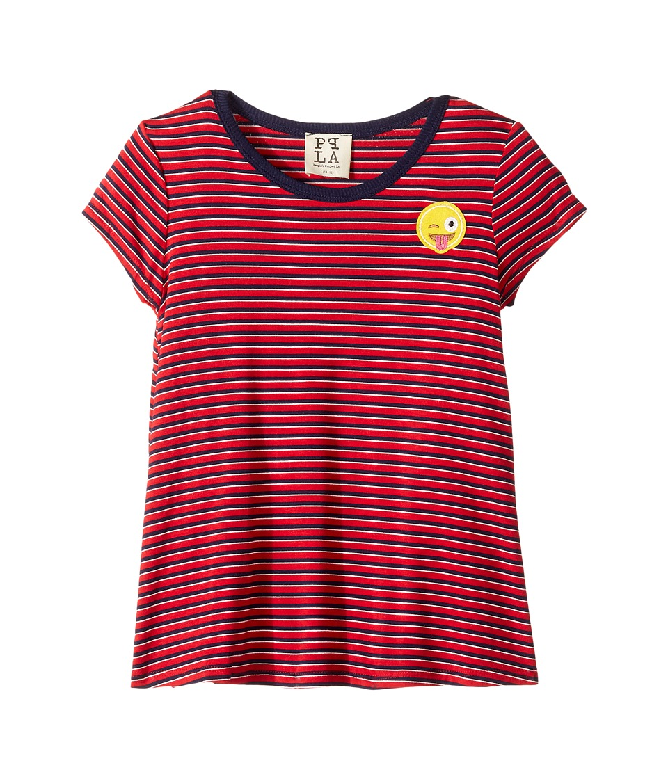 People's Project LA Kids - Smile Ringer Tee (Big Kids) (Red) Girl's T Shirt