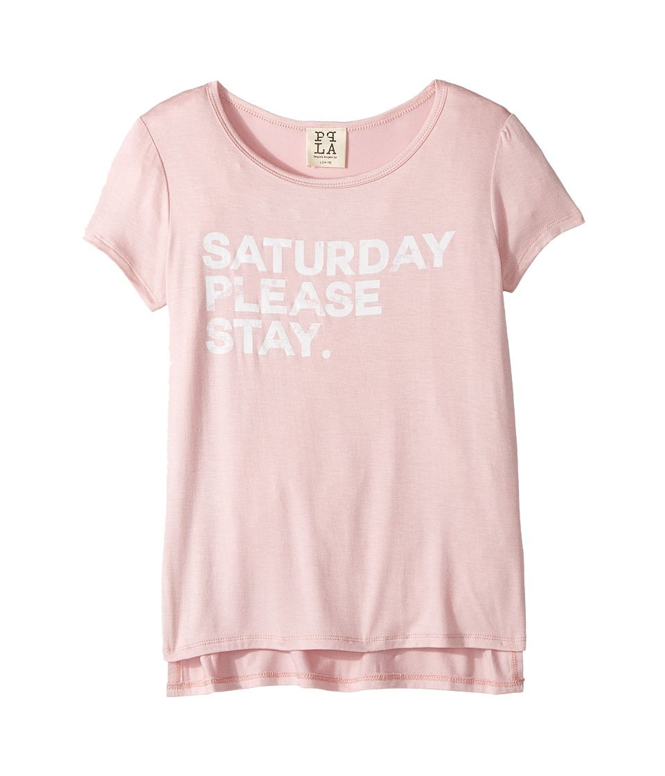People's Project LA Kids - Saturday Stay Tee (Big Kids) (Pink Sand) Girl's T Shirt