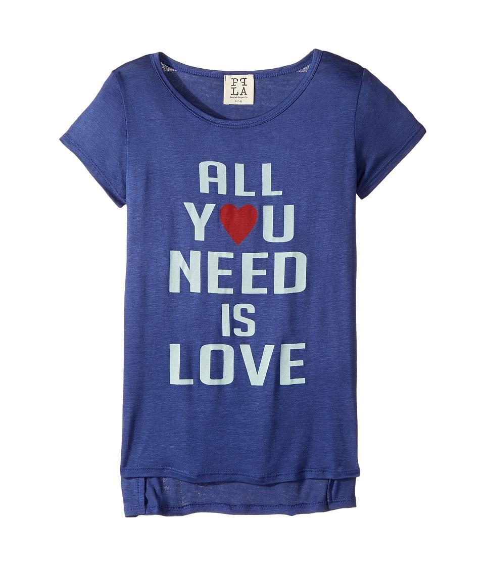 People's Project LA Kids - All You Need Scoop Tee (Big Kids) (Navy) Girl's T Shirt