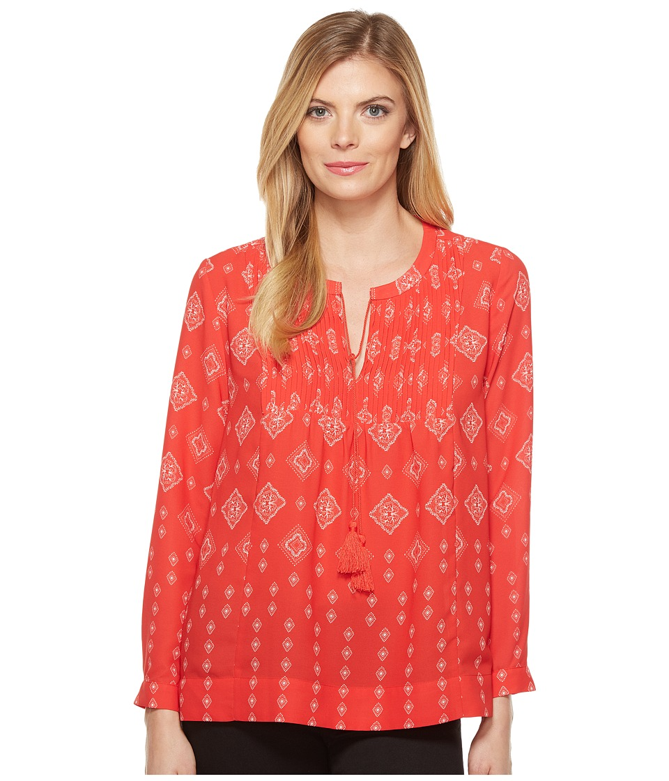 NYDJ - Bandana Print Blouse (Countryside Kerchief Haute Rough) Women's Blouse