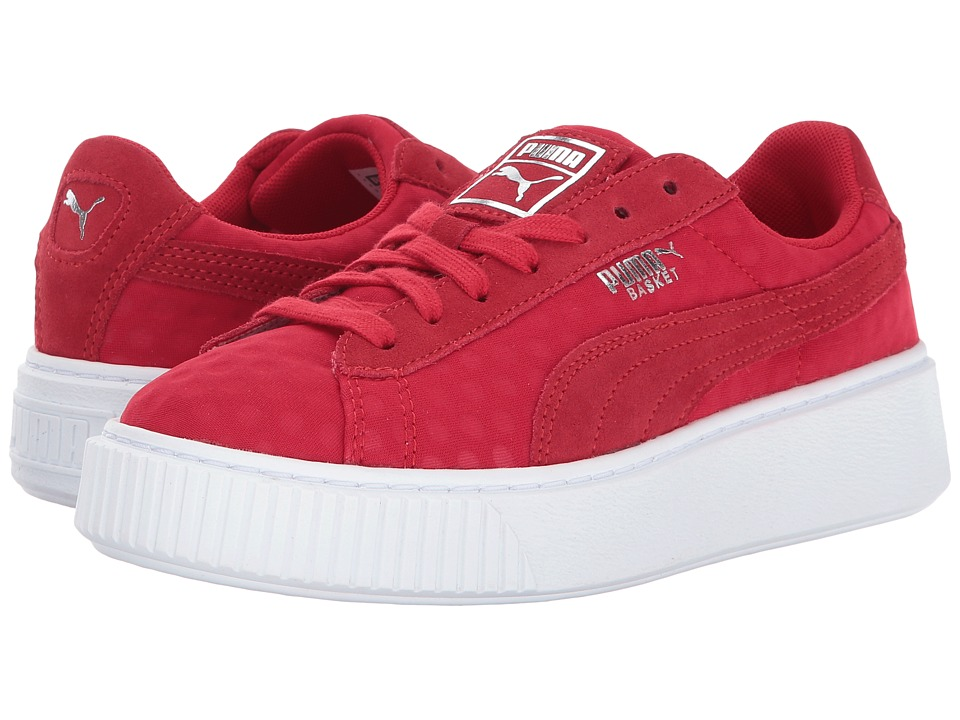 PUMA - Basket Platform Denim (Toreador/Toreador) Women's Shoes