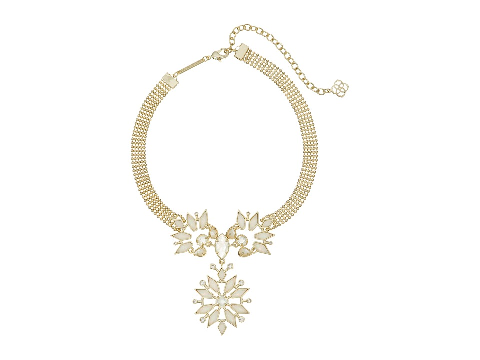 Kendra Scott - Isabella Pendant Necklace (Gold/Ivory Zellige/White CZ) Necklace