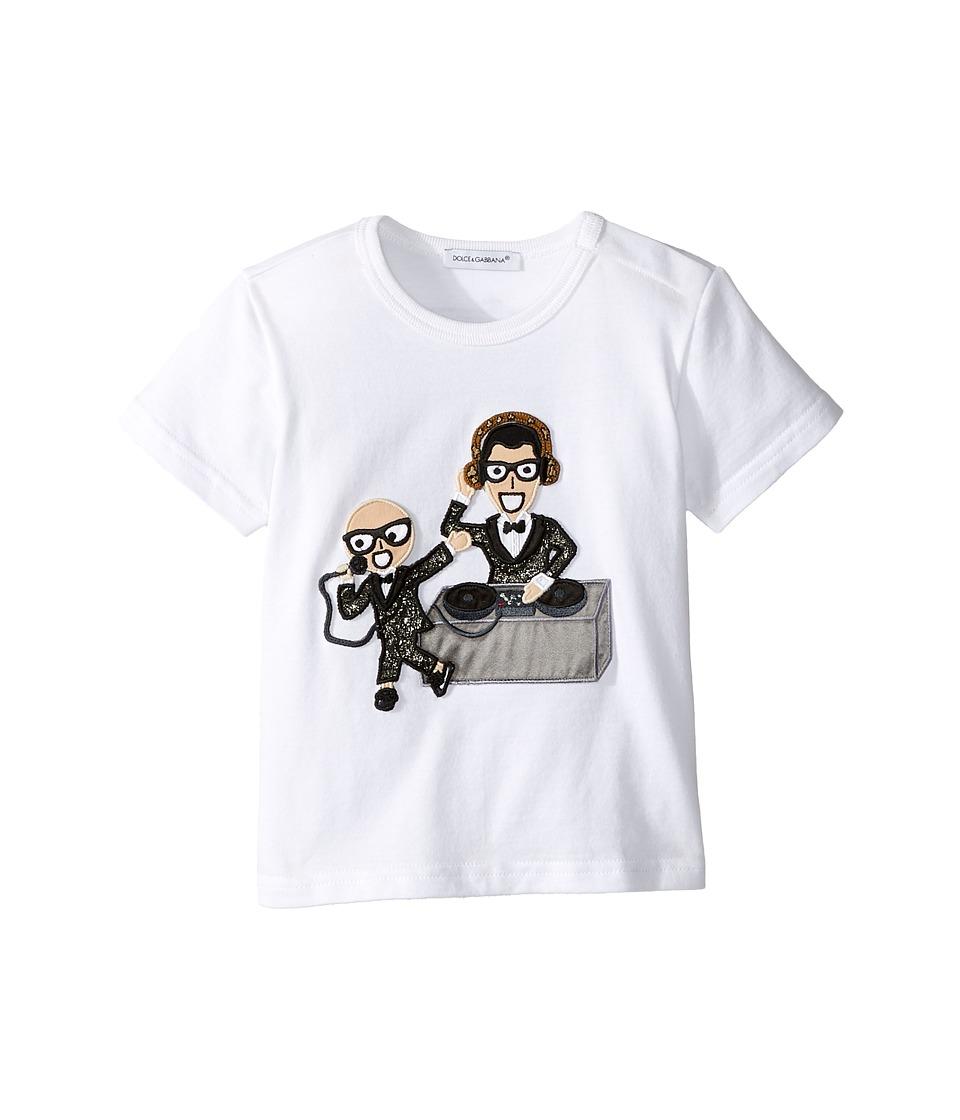 Dolce & Gabbana Kids - Designer Tee (Infant) (White Print) Boy's T Shirt