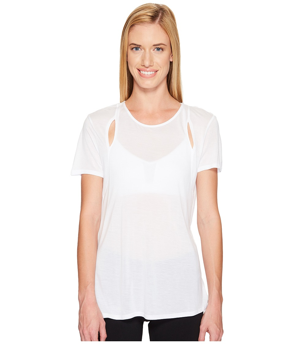 ALO - Astra Short Sleeve Top (White) Women's Clothing