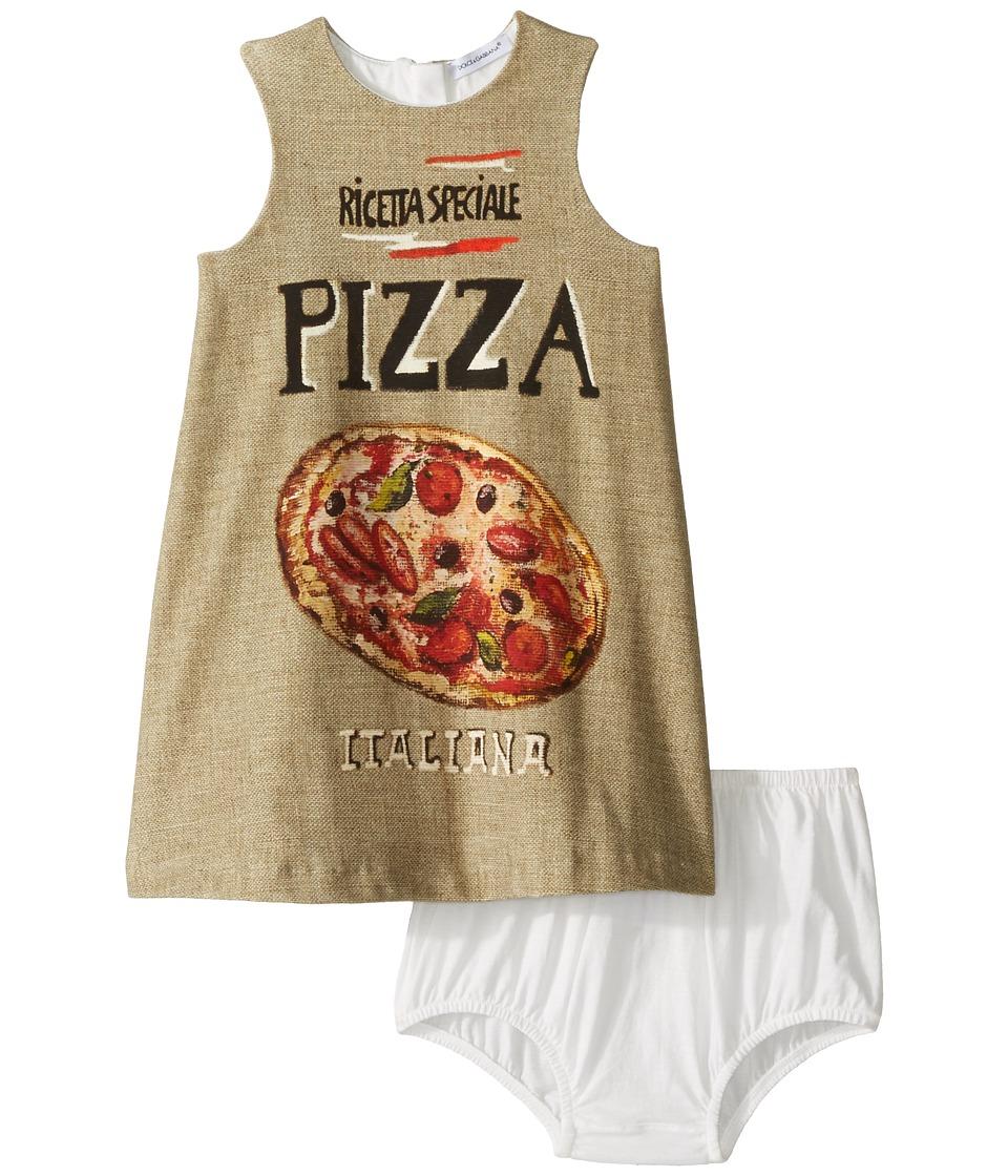 Dolce & Gabbana Kids - Pizza Jersey Dress (Infant) (Pizza Print) Girl's Dress