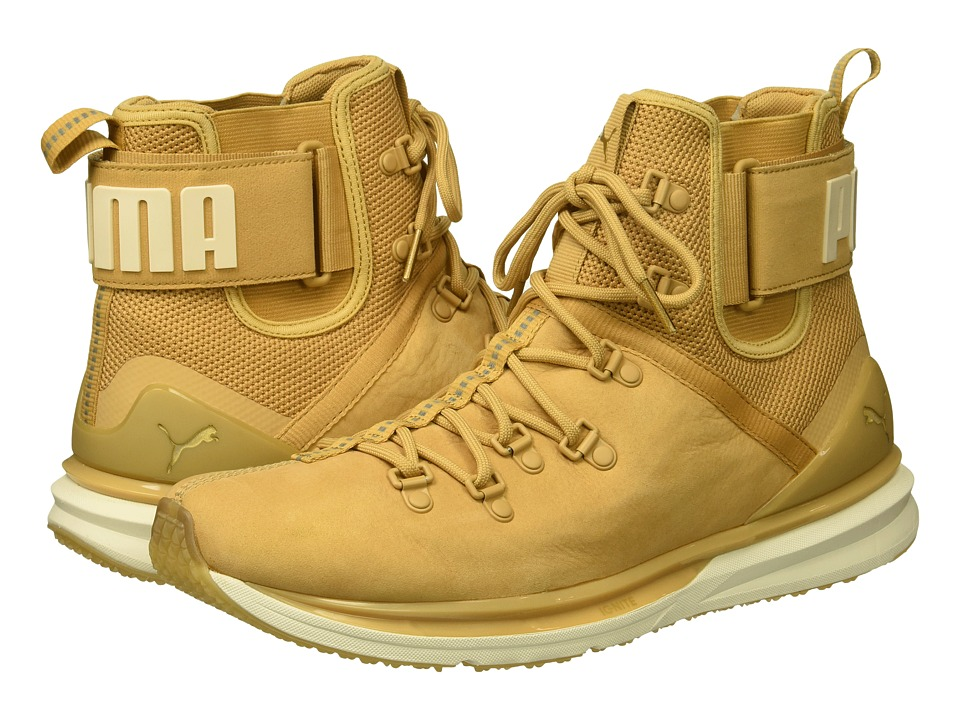 PUMA Ignite Limitless Boot Leather (Taffy/Whisper White) Men