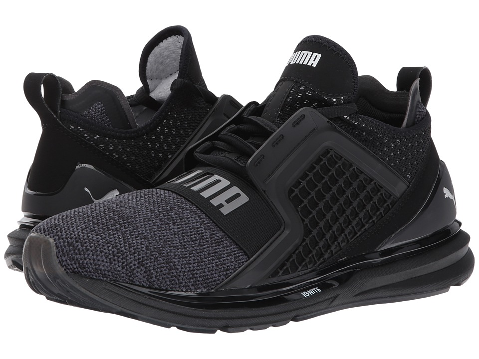 PUMA - Ignite Limitless Knit (Puma Black/Puma Silver) Men's Shoes