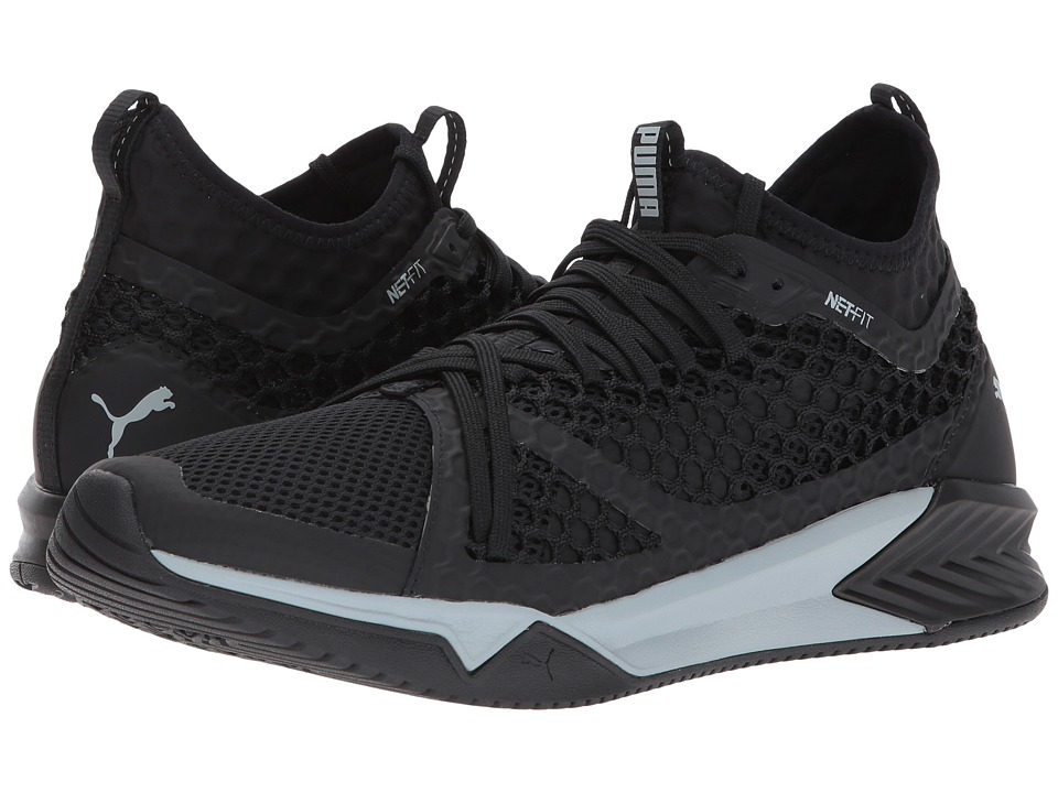 PUMA - Ignite XT Netfit (Puma Black/Quarry) Men's Shoes