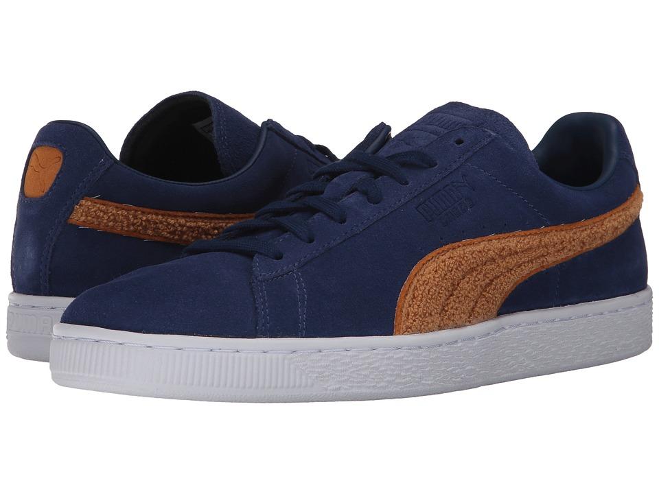 PUMA - Suede Classic Terry (Blue Depths/Inca Gold) Men's Shoes