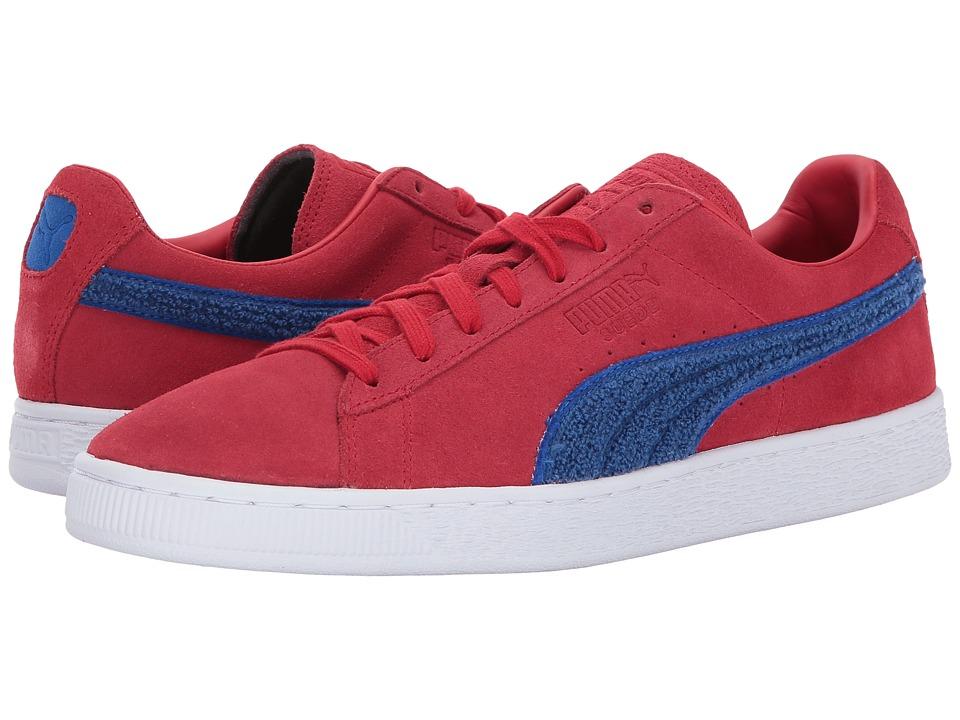 PUMA - Suede Classic Terry (Toreador/Lapis Blue) Men's Shoes