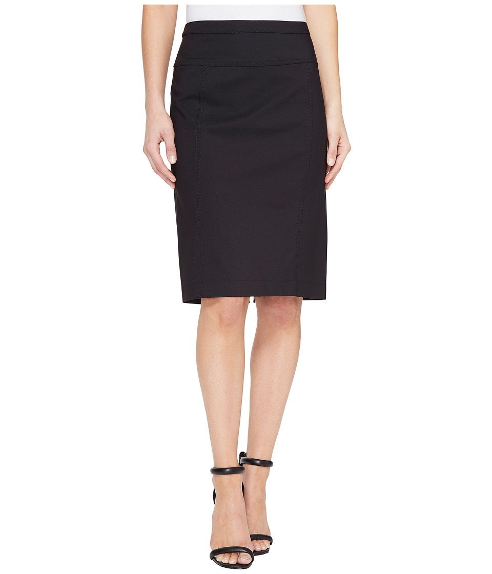 Ellen Tracy Seamed Pencil Skirt (Black) Women