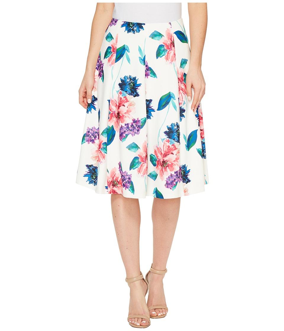 Ellen Tracy - Seamed Flare Skirt (Jardin E Cream) Women's Skirt