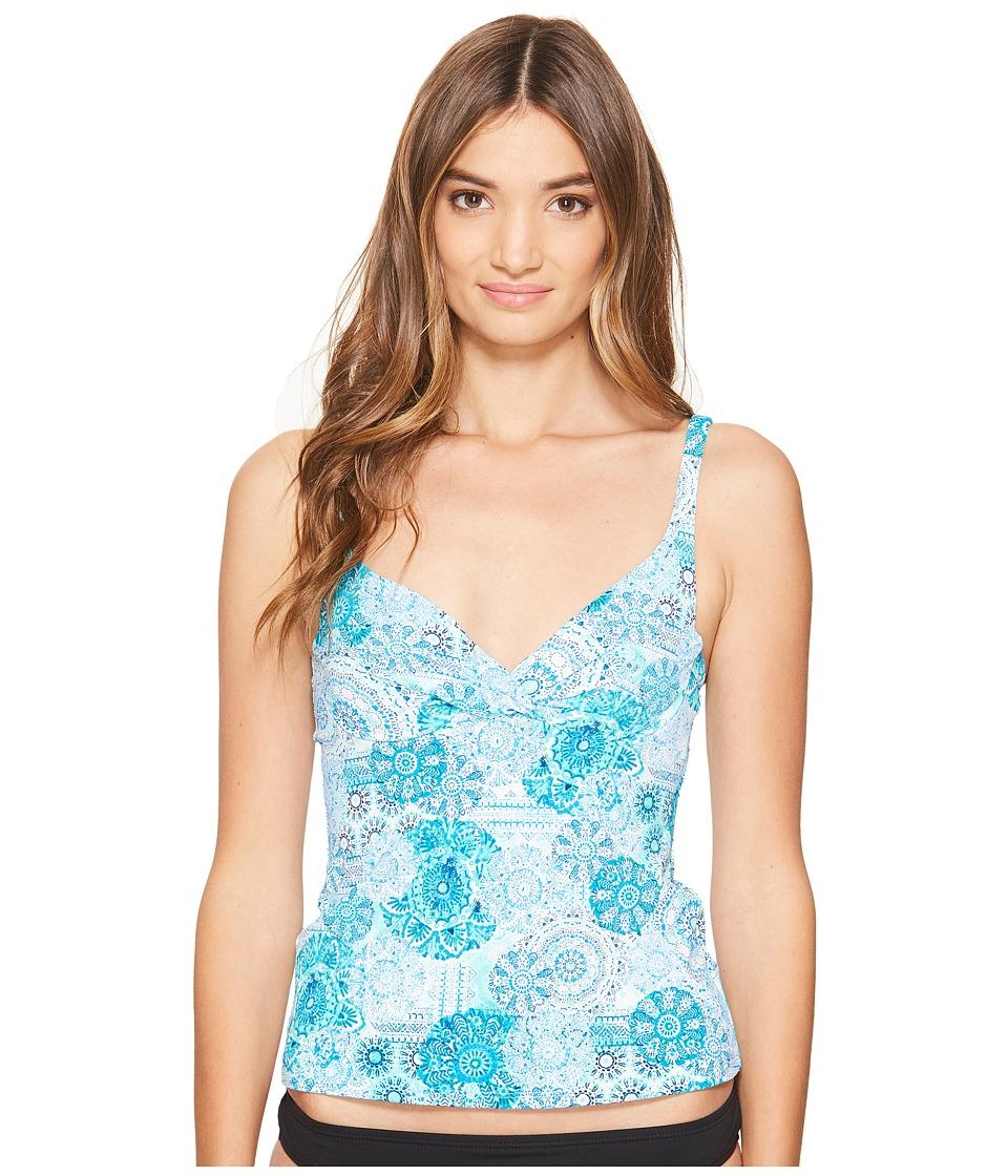 Bleu Rod Beattie - Soak Up The Sun Over the Shoulder Underwire Twist Tankini (Bleu Lagoon) Women's Swimwear