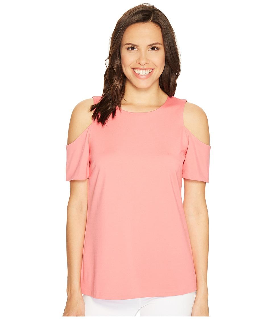 Ellen Tracy - Open Shoulder Top (Blosson Pink) Women's Clothing