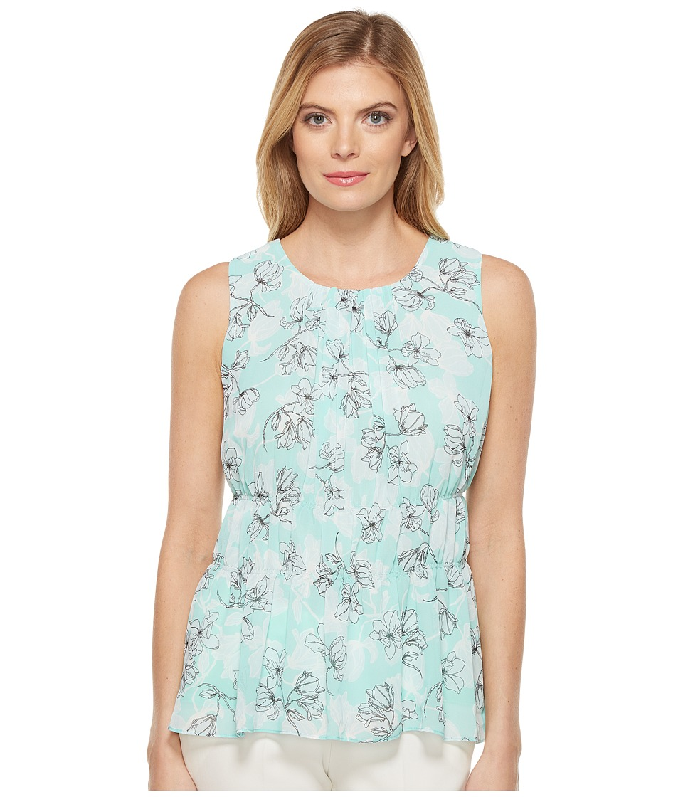 Ellen Tracy - Shirred Shell (Spring Soft Mint) Women's Clothing