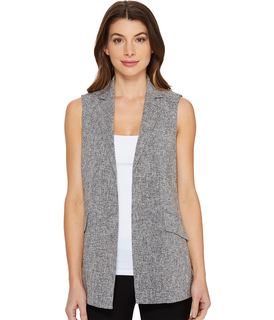 Ellen Tracy - Textured Gilet (Jaspe/Black Combo) Women's Clothing