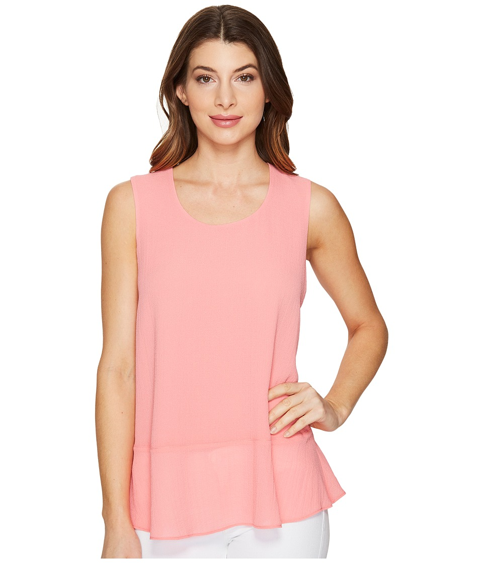 Ellen Tracy - Flounce Hem Shell (Blossom Pink) Women's Clothing