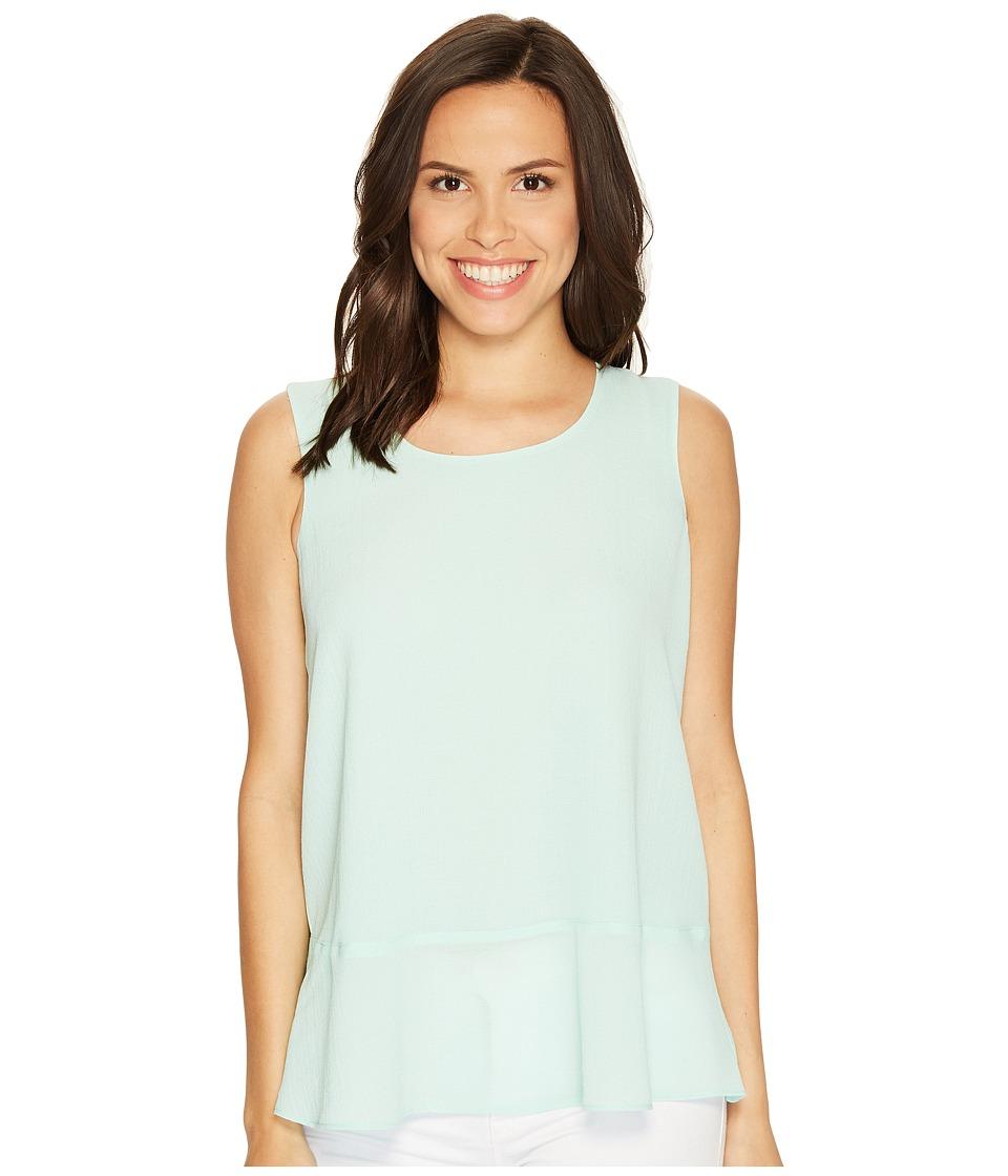 Ellen Tracy - Flounce Hem Shell (Soft Mint) Women's Clothing