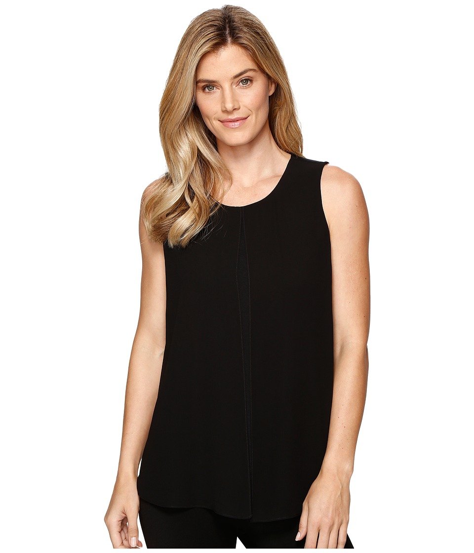 Ellen Tracy - Georgette Overlay Shell (E Black) Women's Clothing