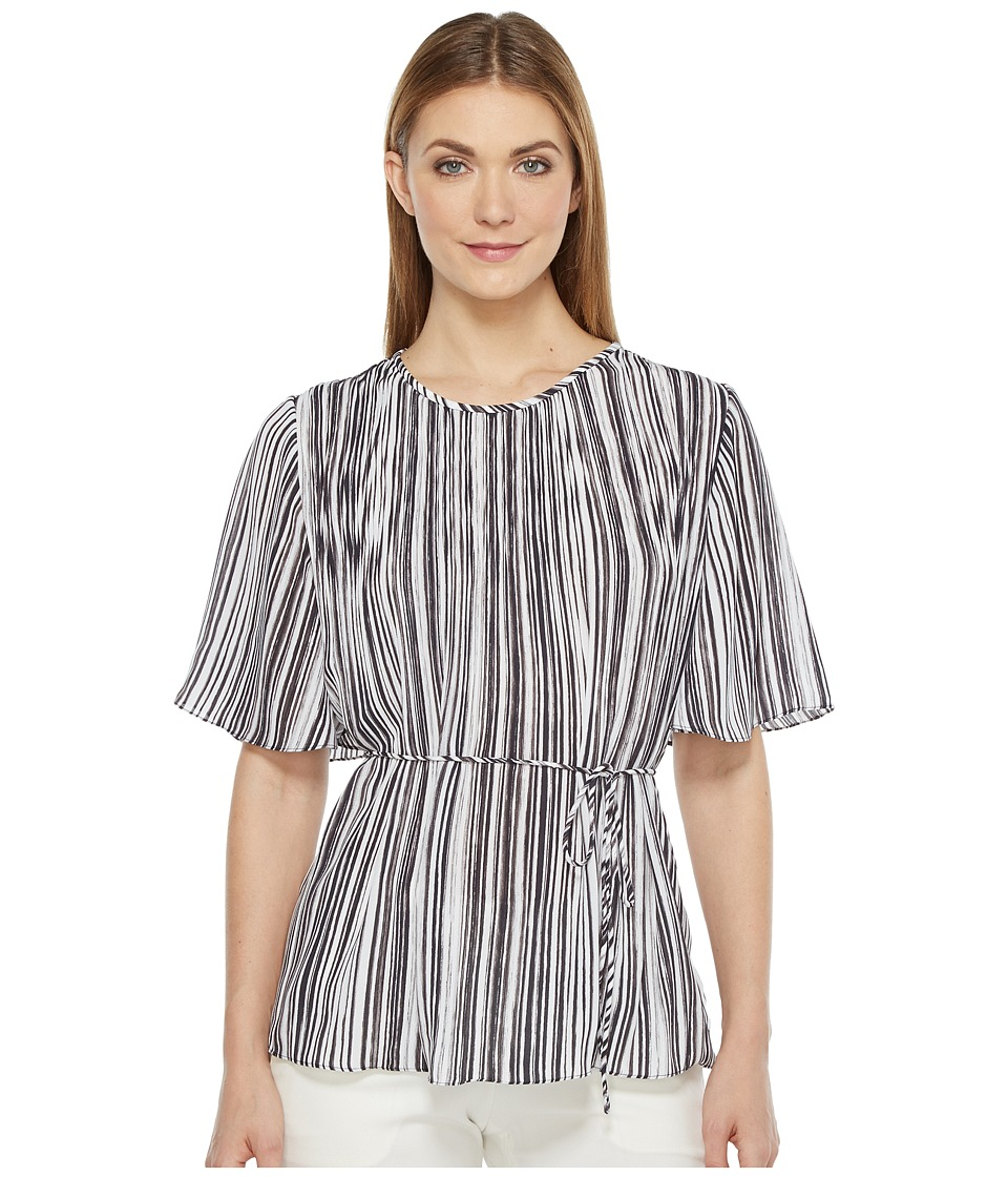 Ellen Tracy - Release Pleat Top (Painted Lines Combo) Women's Clothing