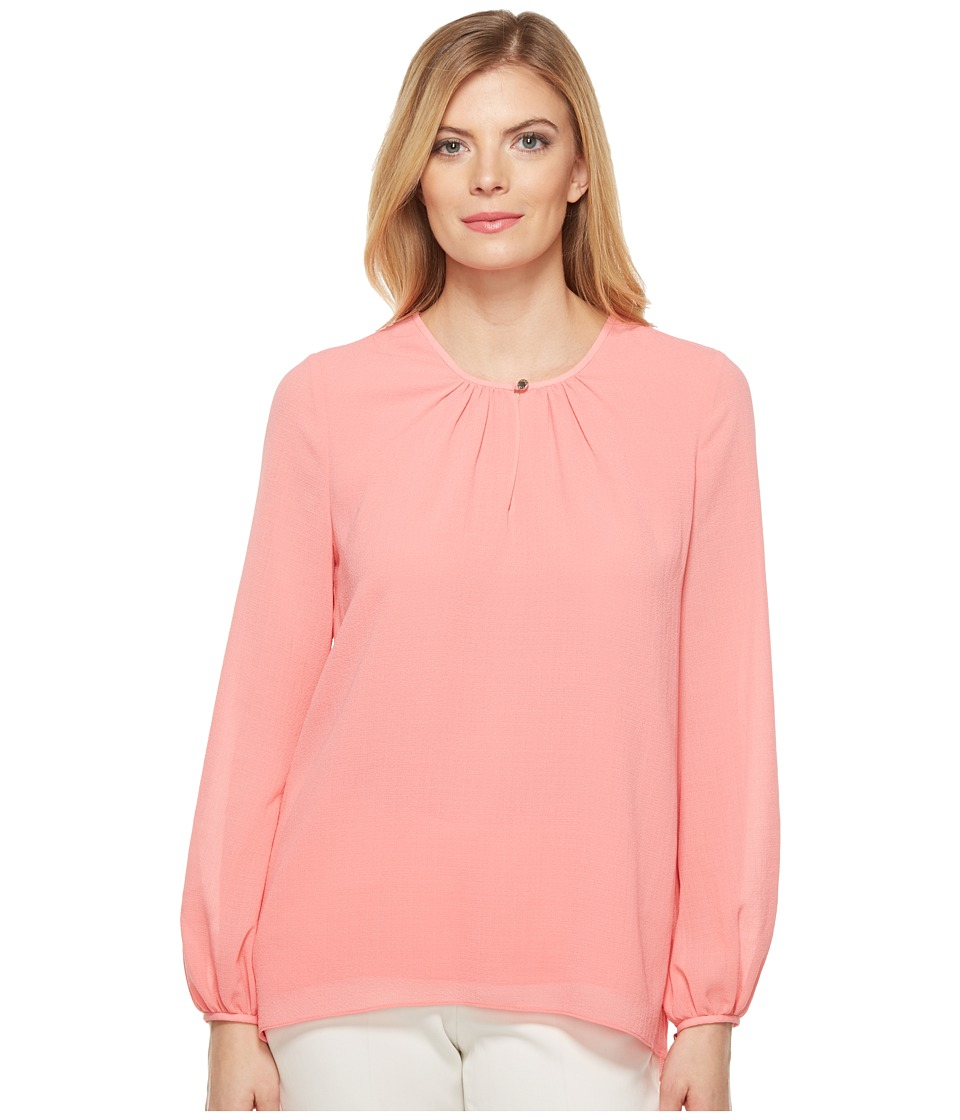 Ellen Tracy - Shirred Neck Blouse (Blossom Pink) Women's Blouse