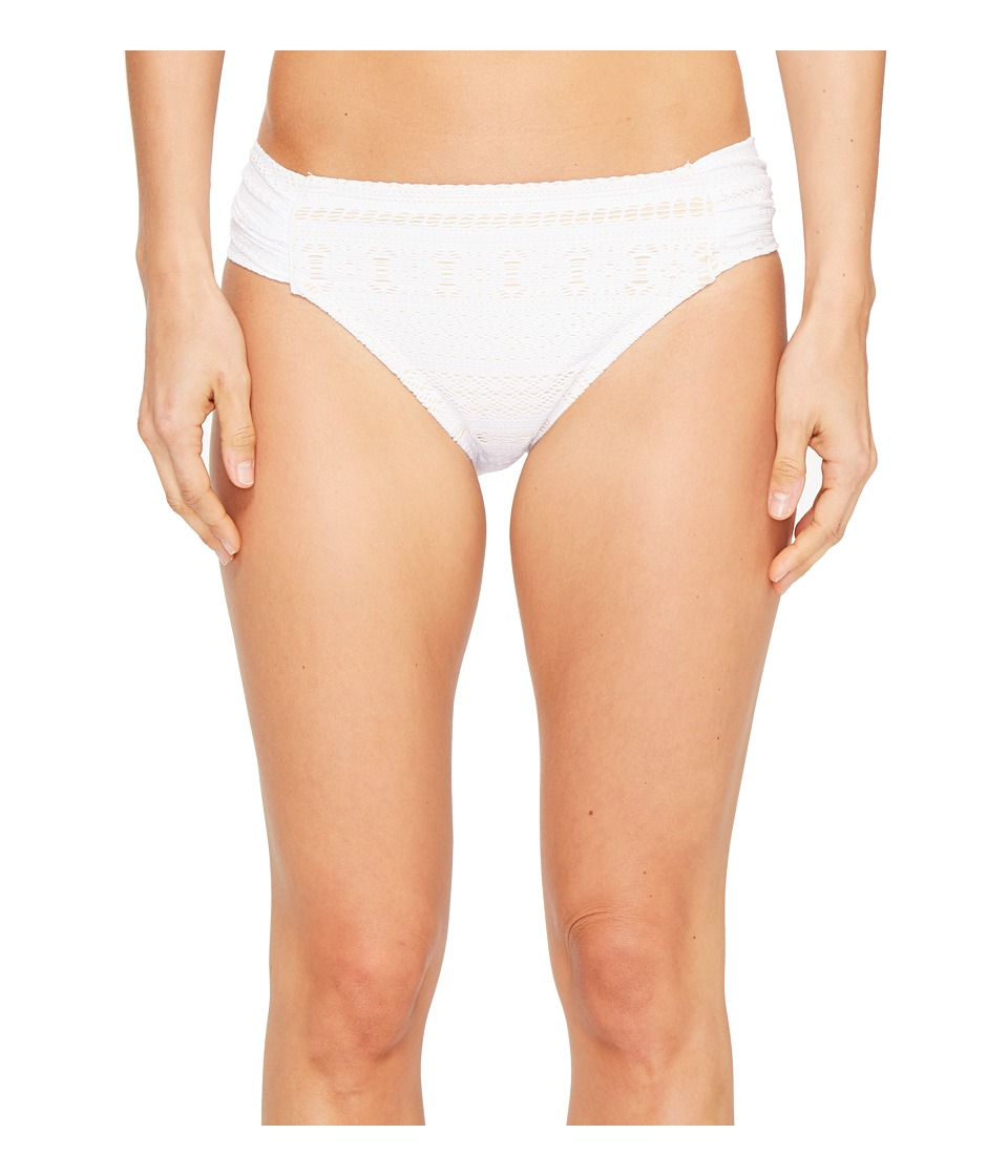 Bleu Rod Beattie - Sneak Peek Side Tab Hipster (White) Women's Swimwear