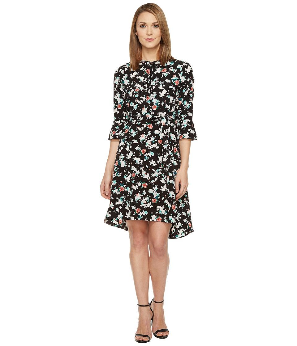 Ellen Tracy Soft Shirtdress (Petite Blooms Multi) Women