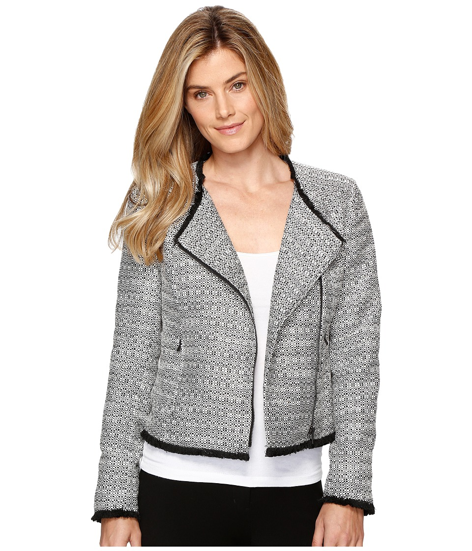 Ellen Tracy - Asymmetrical Moto Jacket (Black Combo) Women's Coat