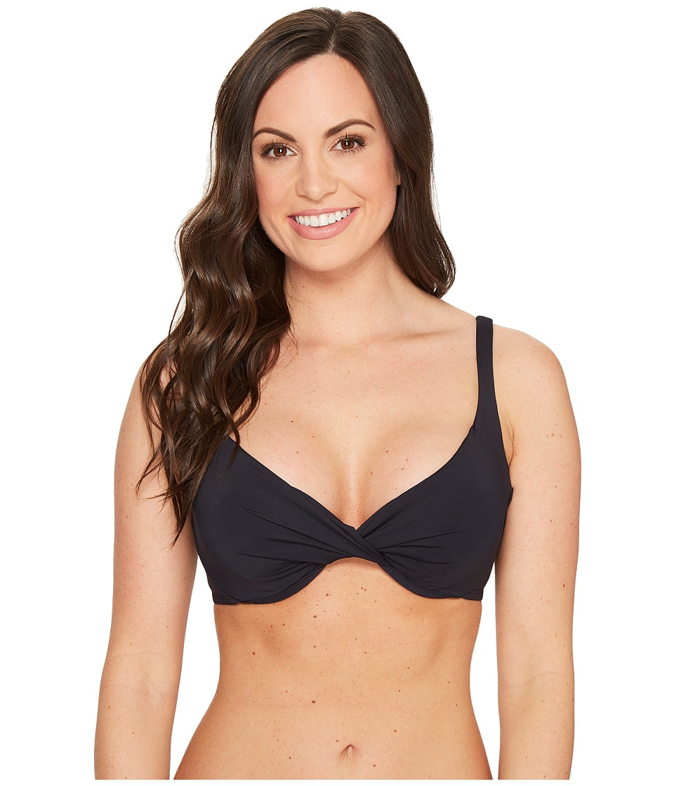 Bleu Rod Beattie Cruise Control OTS D-Cup Underwire Bikini Top Black Swimwear