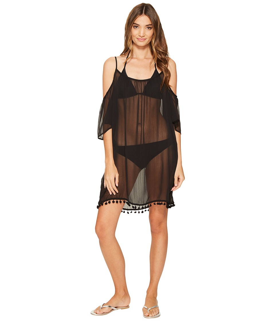 Bleu Rod Beattie - Gypset Cold Shoulder Dress Cover-Up (Black) Women's Swimwear
