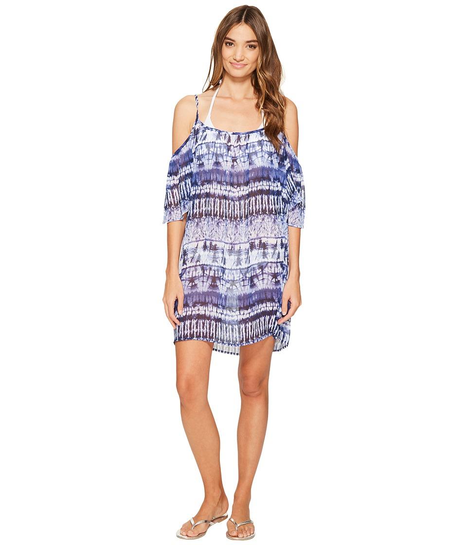 Bleu Rod Beattie - Get Wet Cold Shoulder Dress Cover-Up (Mignight Bleu) Women's Swimwear