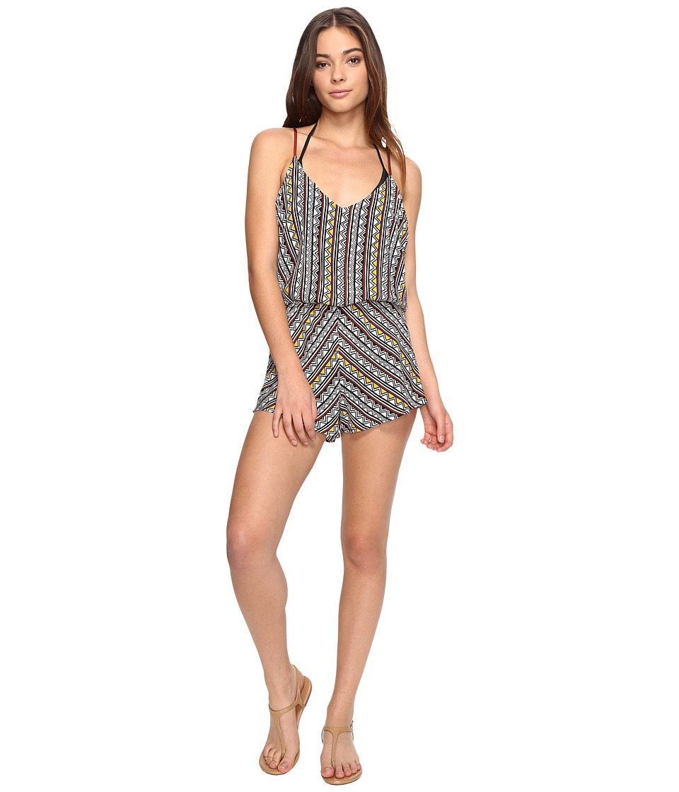 Dolce Vita - Tribal Trance Romper Cover-Up (Henna/Sunbeam) Women's Jumpsuit & Rompers One Piece