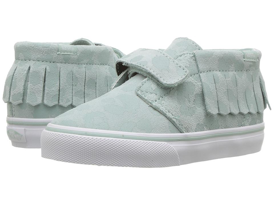 Vans Kids Chukka V Moc (Toddler) ((Leopard Suede) Harbor Grey) Girls Shoes