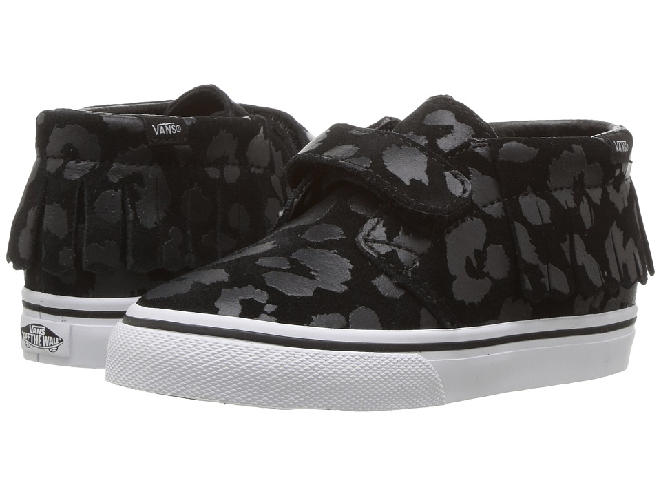 Vans Kids - Chukka V Moc (Toddler) ((Leopard Suede) Black) Girls Shoes