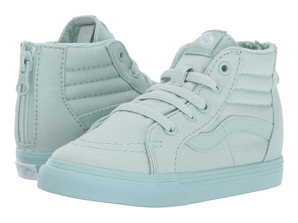 Vans Kids SK8 Hi-Zip (Toddler) ((Mono) Harbor Gray/Glitter) Girls Shoes