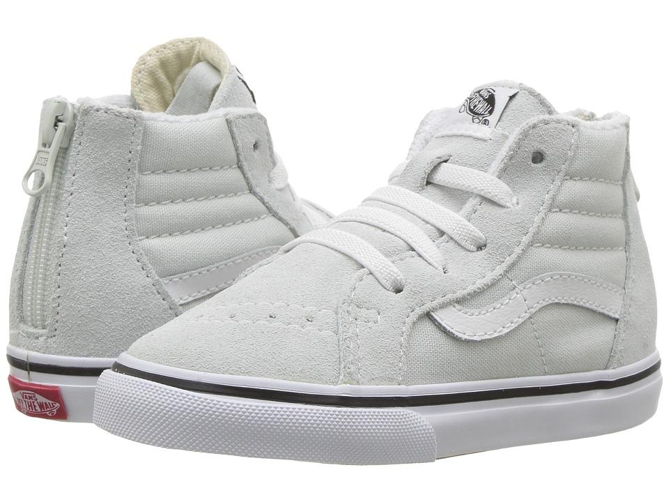 Vans Kids SK8 Hi-Zip (Toddler) (Ice Flow/True White) Girls Shoes