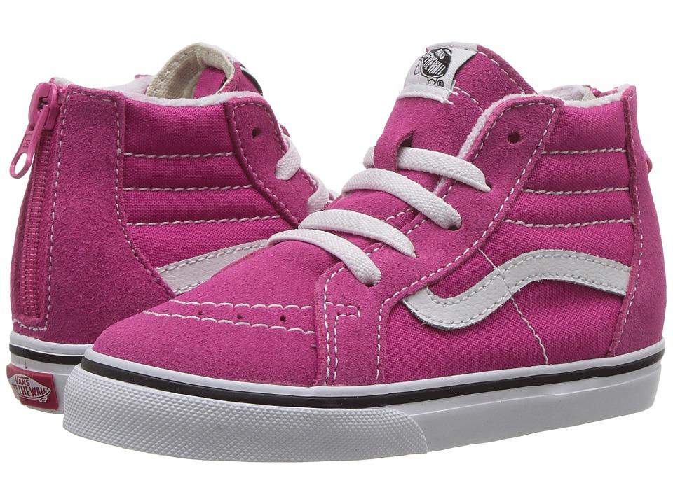 Vans Kids SK8 Hi-Zip (Toddler) (Very Berry/True White) Girls Shoes