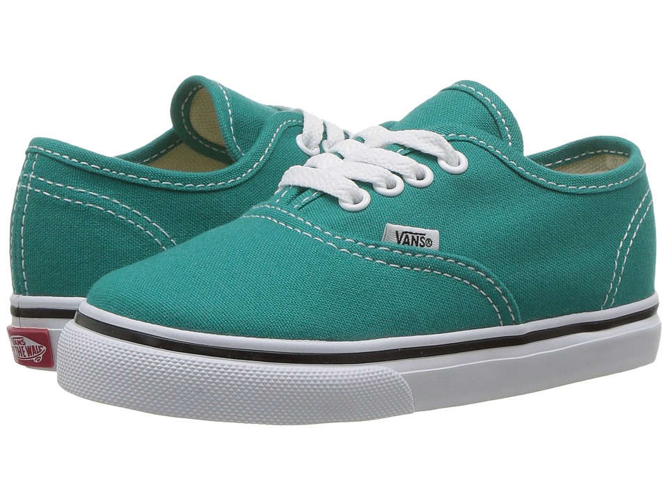 Vans Kids - Authentic (Toddler) (Teal Blue/True White) Girls Shoes