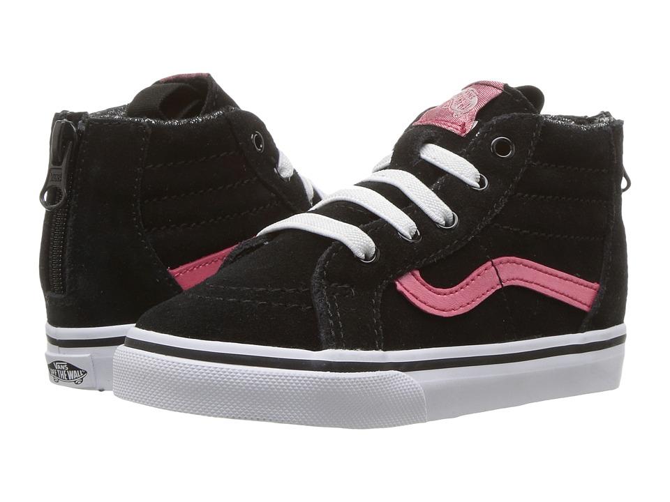 Vans Kids SK8 Hi-Zip (Toddler) ((MTE) Black/Metallic) Girls Shoes