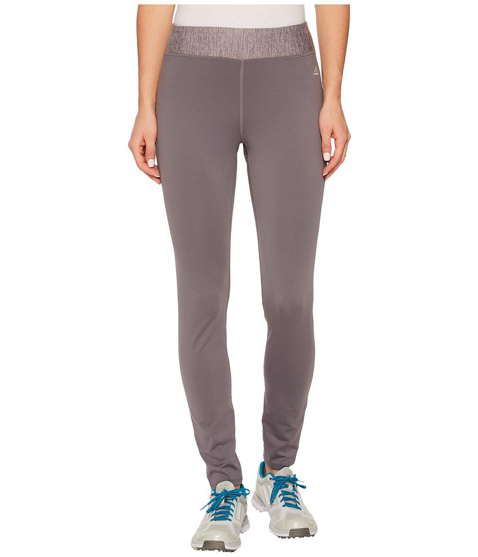 adidas Golf Fleece Leggings (Trace Grey) Women