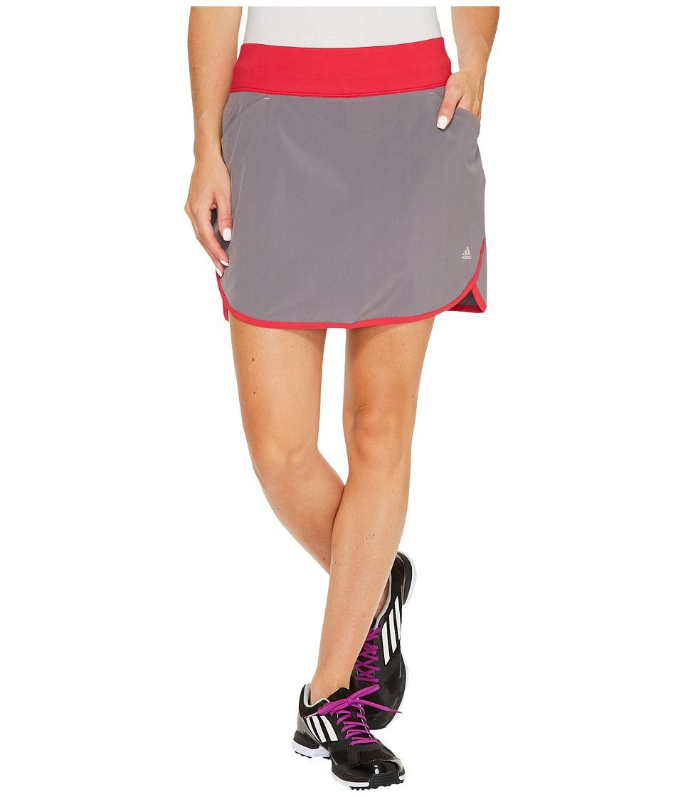 adidas Golf Hybrid Rangewear Skorts (Trace Grey/Energy Pink) Women