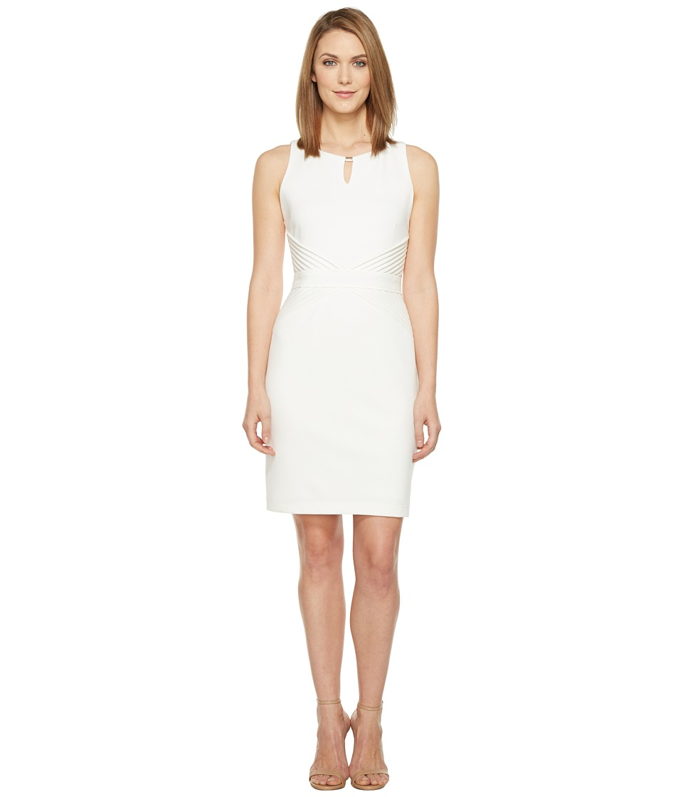 Ellen Tracy - Ponte Dress (Ivory) Women's Dress