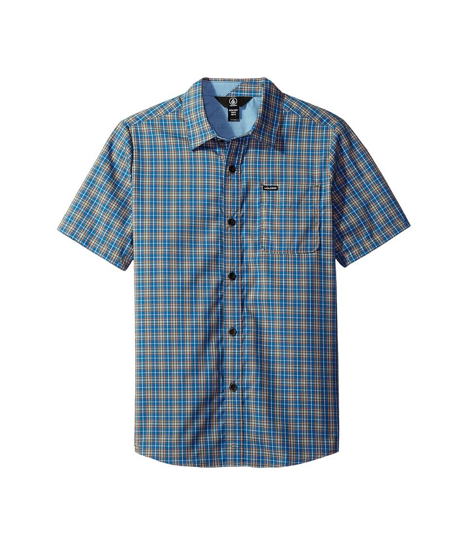 Volcom Kids - Harper Short Sleeve Shirt (Big Kids) (Mayan Blue) Boy's Short Sleeve Button Up